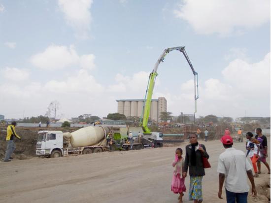 49米泵车助建非洲肯尼亚内罗毕外环路项目